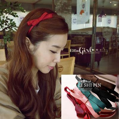 ☆* 魔衣子 *☆【Q60A77】可愛蝴蝶結髮圈/髮箍。六色