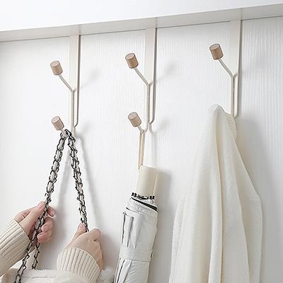 門后掛鉤掛衣架臥室門上掛架免打孔無痕衣帽門背式壁