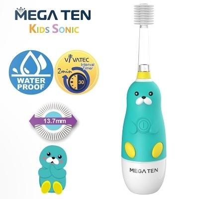 【愛吾兒】日本 Vivatec Mega Ten幼童電動牙刷-海豹