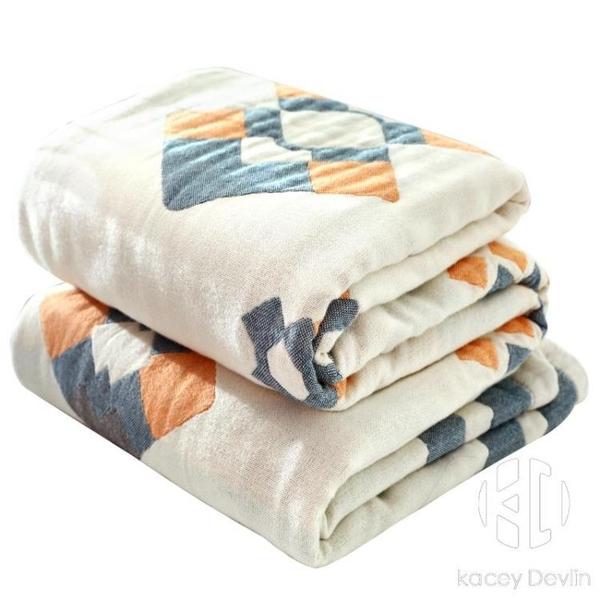 夏季薄款純棉紗布毛巾被子單人雙人空調蓋毯午睡沙發小毯子【Kacey Devlin】