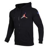 C-NIKE Jordan 男女 黑 彩色 飛人logo 運動休閒 連帽外套 CJ7880-010