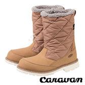 【日本 Caravan】SHC_7W 中性女長筒防水保暖雪鞋『淺棕』0023027 雪靴│透氣│輕量.雪鞋