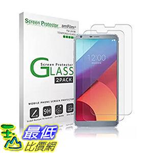 [106美國直購] amFilm B06WLKSMS3 手機螢幕保護貼 LG G6 Tempered Glass Screen Protector 0.33mm 2.5D (2-Pack)