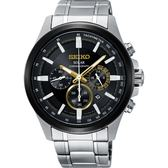 SEIKO精工 Criteria 玩酷太陽能計時碼錶-黑x銀42mm V175-0ER0D(SSC679P1)