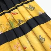 布料【百蝶圖】閃光亂麻布料單層不透古風漢服春夏馬面裙面料采荷南下