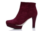 高跟短靴-個性性感設計女靴子2色ws102【巴黎精品】