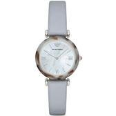 【台南 時代鐘錶 Emporio Armani】亞曼尼 AR11002 義式風情 典雅氣質時尚腕錶 珍珠貝 32mm