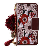 三星 S9 Plus S9 紅色向日葵 手機皮套 皮套 插卡 磁扣 掛件 吊飾 韓系 S9+手機皮套