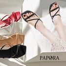 PAPORA休閒平底拖鞋涼鞋K1589黑/棕/白