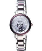 STAR 愛戀雙心晶鑽甜蜜女錶-紫/30mm 7T1407-161V-V