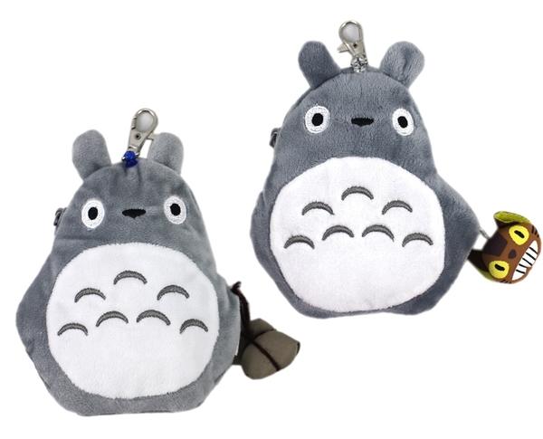 【卡漫城】 龍貓 絨毛 易拉扣 票卡包 剩荷葉款 Totoro 萬用包 小物 零錢包 收納包 識別證 悠遊卡套