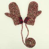 針織手套-羊毛手工編織多色鈕扣雙層女手套4色73or19[巴黎精品]