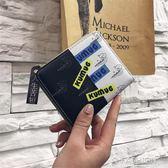 2018新款 ins小錢包女短款學生韓版個性潮迷你折疊搭扣拉鍊  零錢夾-Ifashion