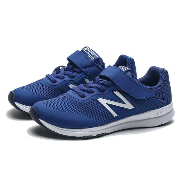 NEW BALANCE 藍白 黏帶 網布 輕量 中童 休閒鞋 (布魯克林) YOPREMDB