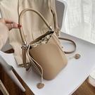 水桶包 質感小包包女包2020流行新款潮時尚女士單肩手提包百搭斜挎水桶包 萬聖節狂歡