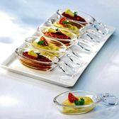 雙十二年終盛宴進口日式鋼化玻璃調味碟家用透明蘸料碟醬料醬油醋碟玻璃碟子   初見居家