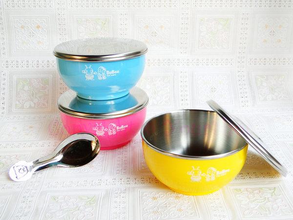 【YourShop】MIT不鏽鋼兒童雙層隔熱碗(不銹鋼蓋) ~贈不鏽鋼湯匙~