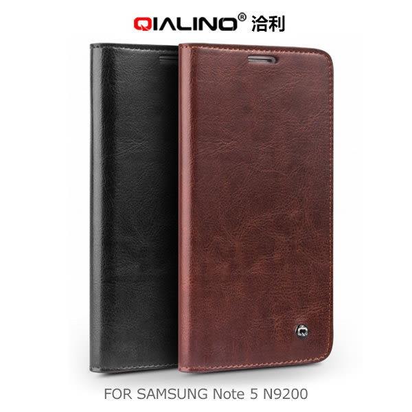 ☆愛思摩比☆QIALINO 洽利 Samsung Note 5 N9200/N9208 經典皮套 保護套 側翻皮套