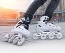 直排輪 溜冰鞋成人旱冰輪滑鞋全套裝初學者男女大學生專業中大童兒童TW【快速出貨八折鉅惠】