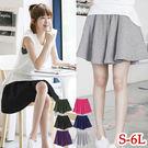 寬版鬆緊短褲裙- B1 K1O