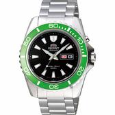 ORIENT 東方 水中蛟龍200米機械錶-黑x綠框x銀/44mm FEM75003B
