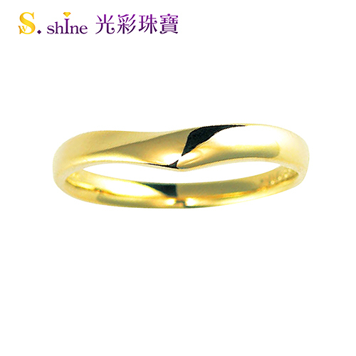 【光彩珠寶】婚戒 日本18K金結婚戒指 男戒 皇室戀曲III