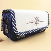帆布多層大容量長鉛筆袋文具盒包