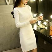 毛衣女秋裝新款2018韓版中長款寬鬆套頭針織打底衫女長袖連身裙冬 艾尚旗艦店