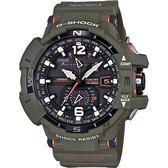 CASIO卡西歐 G-SHOCK MASTER 飛行員太陽能電波手錶-橄欖綠 GW-A1100KH-3A / GW-A1100KH-3ADR