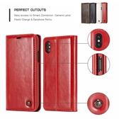 蘋果 XS XR XS MAX CM瘋馬紋銅釦 手機皮套 插卡 隱形磁扣 保護套 皮套