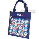 〔小禮堂〕哆啦A夢 直式手提袋《深藍.多動作滿版》輕巧好攜帶4713549-00023
