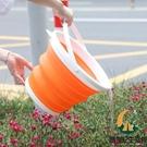買1送1 可折疊水桶帶蓋車載車用美術洗筆便攜式戶外釣魚旅行家用【創世紀生活館】