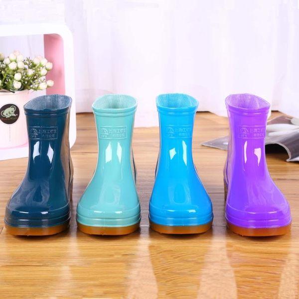 雨鞋雨靴膠靴防水鞋女短筒平底膠鞋