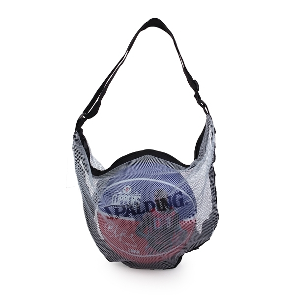 SPALDING 單顆裝網袋銀藍 (收納袋 瓢蟲袋 籃球袋 斯伯丁 免運≡體院≡