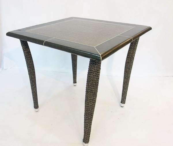 【南洋風休閒傢俱】戶外休閒桌椅系列-80公分編織休閒餐桌椅組  戶外餐桌椅組  適餐廳(HT-350)