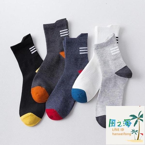 運動襪 籃球防臭運動襪子純棉中筒春夏薄款 風之海