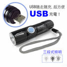GREENON【強光USB充電手電筒 】...