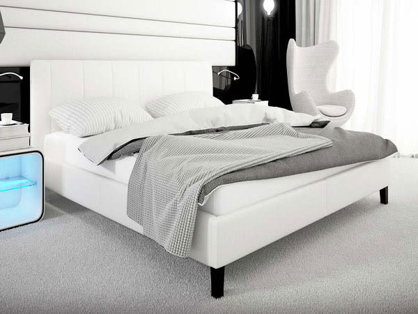 床架【YUDA】保羅 5尺 白皮 雙人 床架/床檯/床底 J8F 075-1