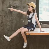 女童吊帶褲夏裝2020新款兒童洋氣夏季短褲百搭外穿薄款褲子大童裝 童趣