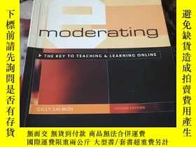 二手書博民逛書店e-moderating:the罕見key to teachin