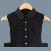 假領子襯衫穿搭領片 緹花領片  大學T針織衫外套黑白色[E1287] 滿額送愛康衛生棉預購.朵曼堤洋行