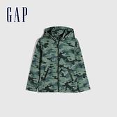 Gap男童 迷彩保暖連帽外套 611068-綠色迷彩