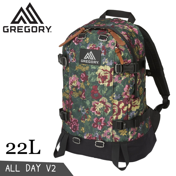 【GREGORY 美國 22L ALL DAY V2 後背包《花園油彩》】131367/登山背包/雙肩包/電腦包/旅行/自行車