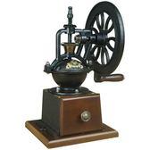 復古手搖磨豆機家用 咖啡手磨咖啡豆研磨機手動磨粉鑄鐵輪超省力   LannaS