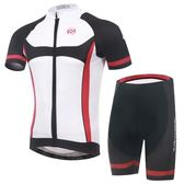 自行車衣-(短袖套裝)-親膚透氣時尚戶外男單車服套裝73er30【時尚巴黎】