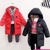 兒童羽絨服中長款男女童加厚冬裝寶寶白鴨絨外套—交換禮物