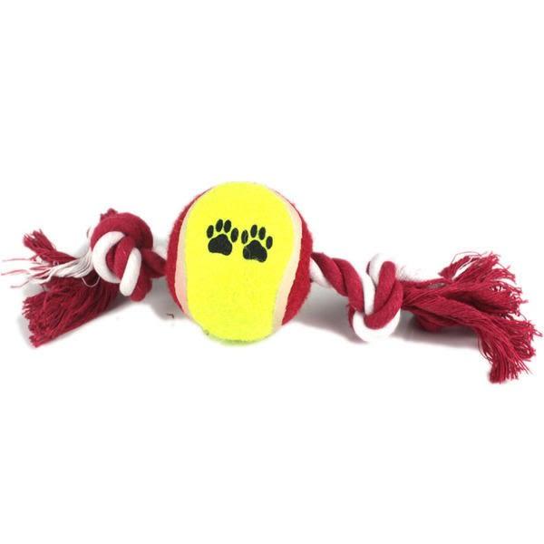 【棉繩加球 JA012】NO135寵物用品 寵物球 訓練狗狗 狗狗玩具 結繩球寵物潔牙顏色【八八八】e網購