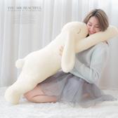抱枕 療癒大耳長臂兔兔側睡枕抱枕-Ruby s 露比午茶