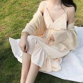 復古韓國chic風柔軟氣質慵懶寬鬆顯瘦百搭溫柔開衫外套女帶腰帶禮物限時八九折