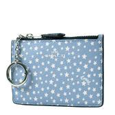 美國正品 COACH 滿天星防刮皮革證件鑰匙零錢包-水藍色【現貨】